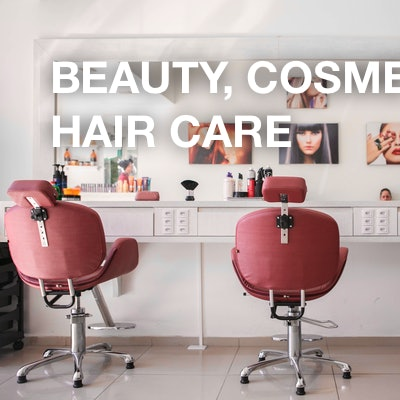 Beauty, cosmetics and hair care